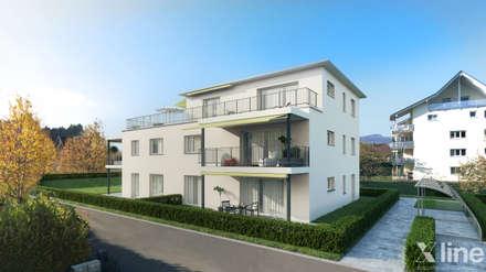 Gartenweg Suhr by Xline3D:  Mehrfamilienhaus von Xline 3D Digital Interactive Architecture