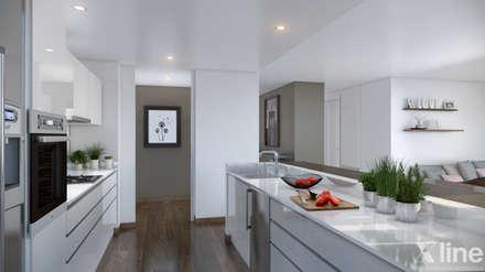 Mil Nueve Diez - Cobitat: Cocinas de estilo minimalista por Xline 3D