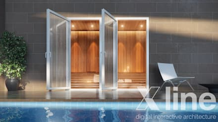One 88 by Xline 3D : modern Pool by Xline 3D Digital Architecture