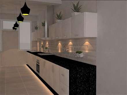 cocina, zona de coccion: Cocinas de estilo ecléctico por SindiyFiorella