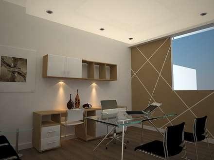 HOME OFFICE: Oficinas de estilo ecléctico por SindiyFiorella
