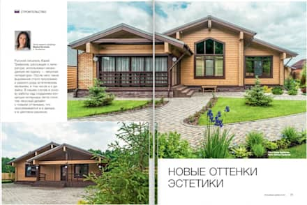 Wooden houses by 'Студия дизайна Марины Кутеповой'