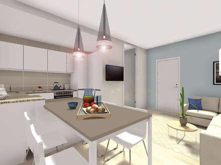 Progetto di Interior Design di un appartamento a Grado (GO): Cucina in stile in stile Mediterraneo di Dettaglidinterni Architettura, Interior Design e Home Staging