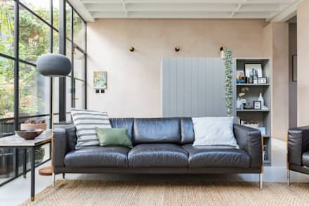 East Dulwich Industrial Conversion: industrial Living room by Imperfect Interiors