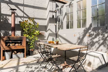 East Dulwich Industrial Conversion: industrial Garden by Imperfect Interiors