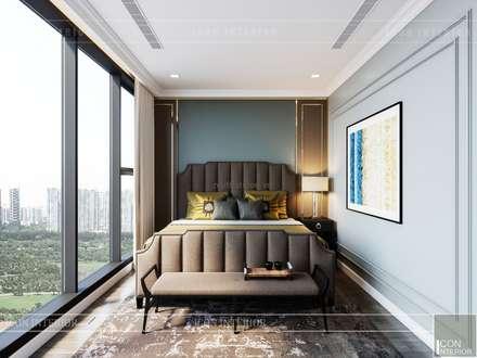 Thiết kế nội thất Tân Cổ Điển cao cấp Luxury 6 Vinhomes Golden River:  Phòng ngủ by ICON INTERIOR