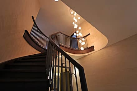 Contemporary New Build, Glossop:  Stairs by Asco Lights Limited