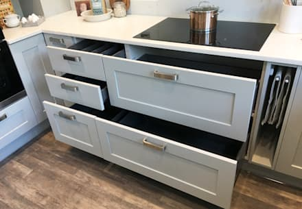 Storage:  Kitchen units by Greengage Interiors Limited