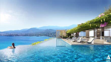 Визуализация SPA отеля на Крите: Бассейн в . Автор – Аrchirost