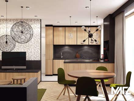 Кухонные блоки в . Автор – MACZ Architektura - Architekt wnętrz Kraków