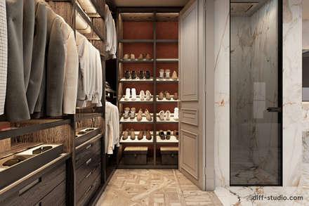Two-level apartment in Paris │ Part 1: Гардеробные в . Автор – Diff.Studio