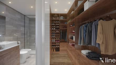 Neper by Xline 3D: classic Dressing room by Xline 3D Digital Architecture
