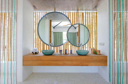 Seascape Bathroom : tropical Bathroom by Word of Mouth House