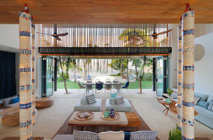 Seascape Villa Pool View : tropical Living room by Word of Mouth House