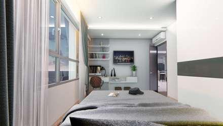 Thiết kế & Thi công Nội Thất Căn hộ - GoldView Quận 4:  Phòng ngủ by Công ty ĐT-TV Thiết Kế & Xây Dựng ECO