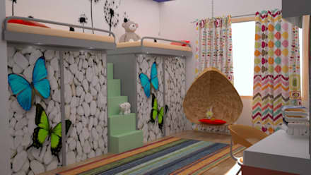 Residential Interior Projects: modern Nursery/kid's room by deZinebox