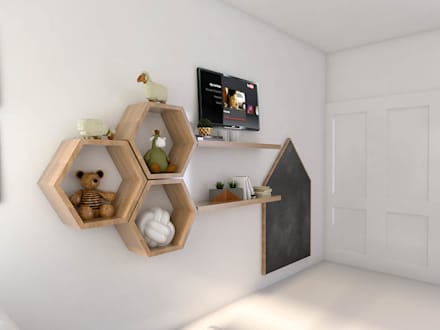 scandinavian Nursery/kid's room by Bhavana