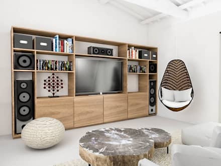 industrial Media room by Bhavana