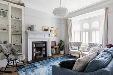 East London Edwardian House: classic Living room by Imperfect Interiors