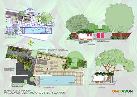 Entertaining Area Back Garden: minimalistic Garden by One Design Architectural Services