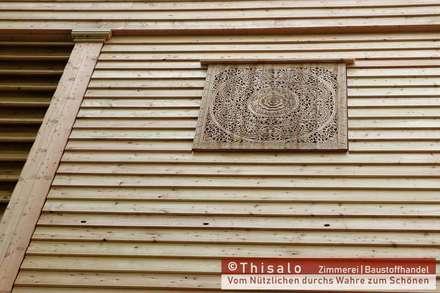 Antike Fassade für ein Heubergelager:  Bürogebäude von Thisalo GmbH