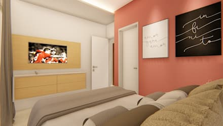 Apartamento CP: Quartos  por Whill Barros Arquitetura e Design