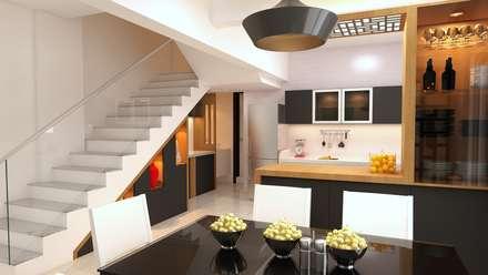 บันได by Fuze Interiors