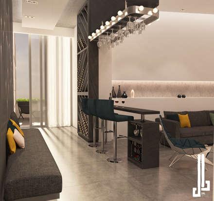 Minimalist design apartment:  Corridor & hallway by dal design office