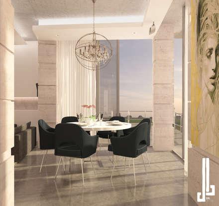 Minimalist design apartment: minimalistic Dining room by dal design office