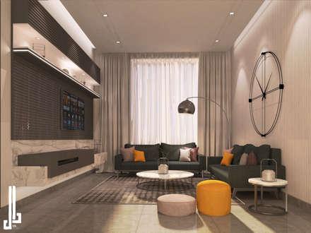 Minimalist design apartment: minimalistic Living room by dal design office