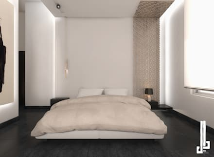 Minimalist design apartment: minimalistic Bedroom by dal design office
