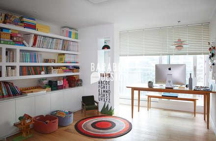 잠원동 50평 인테리어: 바라봄디자인의  서재 & 사무실