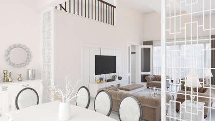 Dündar Design - 3D Mimari Görselleştirme – Villa - İç Mekan: modern tarz Yemek Odası