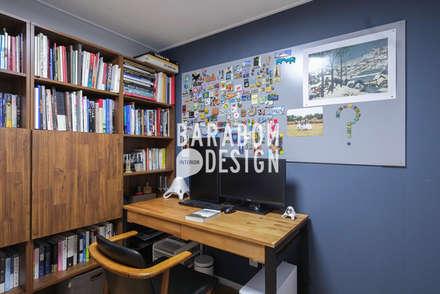 증산동 킨포크스타일 25평 인테리어: 바라봄디자인의  서재 & 사무실