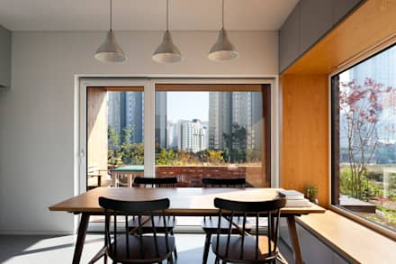 modern Dining room by (주)하우스스타일