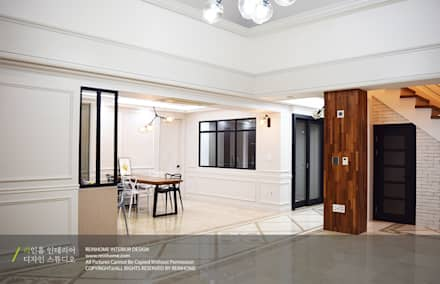 modern Dining room by 리인홈인테리어디자인스튜디오