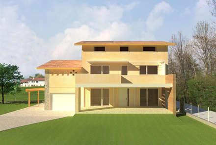 Prospetto sud: Casa unifamiliare in stile  di studio arch sara baggio