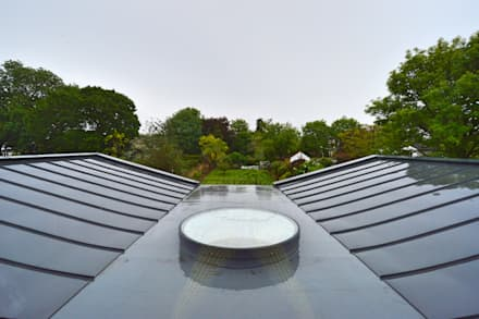 Architect designed residential extension Stoneleigh KT17 – View from Master Bedroom:  Roof by GOAStudio   London residential architecture
