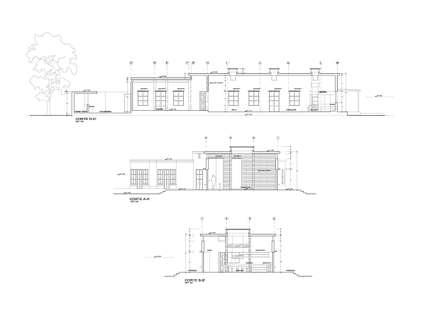 CORTES: Casas unifamiliares de estilo  por AREA - arquitectura y construcción