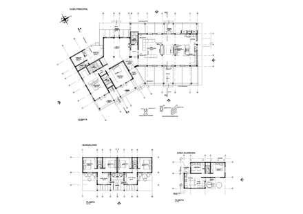 PLANTAS HABITACIONES: Casas unifamiliares de estilo  por AREA - arquitectura y construcción