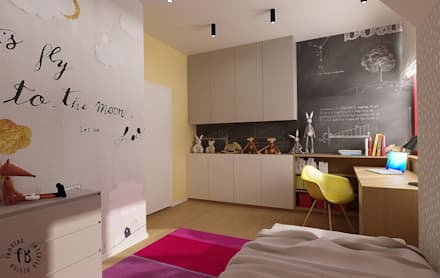 Girls Bedroom by Femberg Architektura Wnętrz
