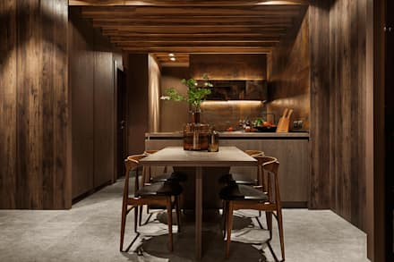 City Hideaway:  Built-in kitchens by Kulyk Interior Design Studio