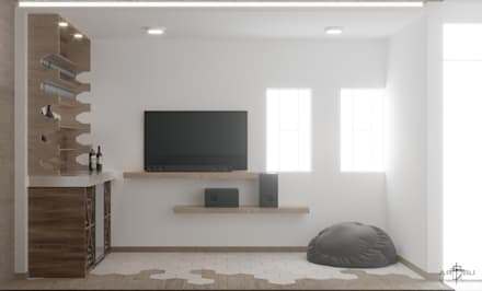 Phòng giải trí by ARQSU, Arquitectura e Interiorismo