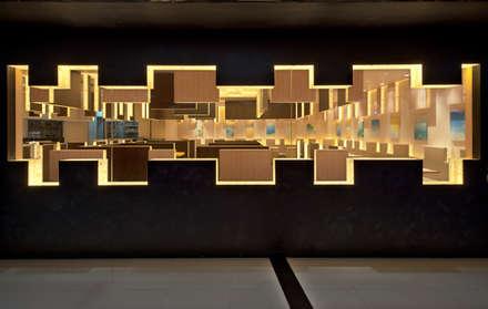 七叶和茶 美羅城: 株式会社KAMITOPEN一級建築士事務所が手掛けた商業空間です。