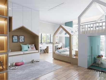 Thiết kế nội thất biệt thự 3 tầng sang trọng với phong cách hiện đại - ICON INTERIOR:  Phòng trẻ em by ICON INTERIOR