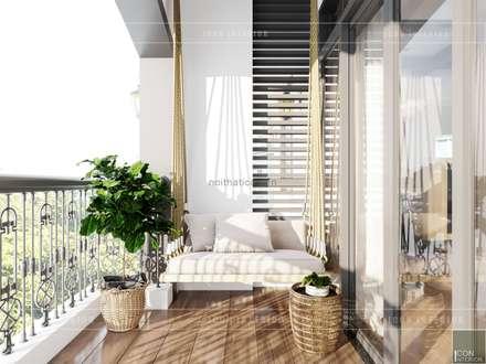 Thiết kế nội thất biệt thự 3 tầng sang trọng với phong cách hiện đại - ICON INTERIOR:  Hành lang by ICON INTERIOR