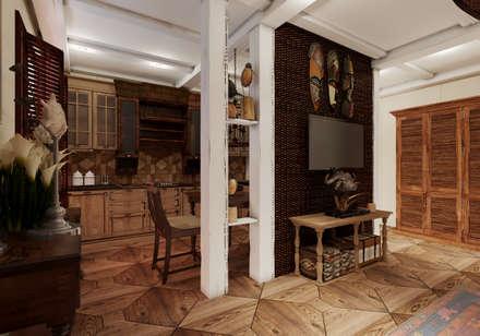 Квартира в г.Сочи: Гостиная в . Автор – Студия дизайна Натали Хованской