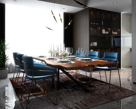 Penthouse: modern Dining room by Norm designhaus