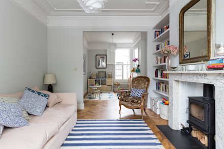 North West London Terraced House: classic Living room by VORBILD Architecture Ltd.
