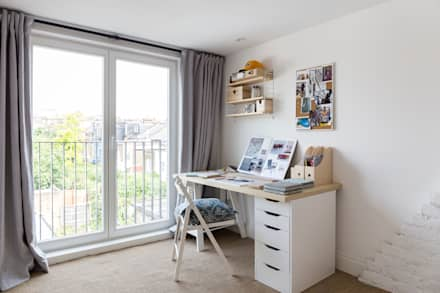 North West London Terraced House: classic Study/office by VORBILD Architecture Ltd.